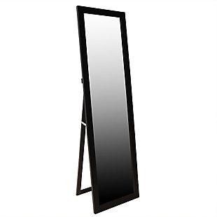 Home Basics Easel Back Full Length Mirror, Mahogany, large