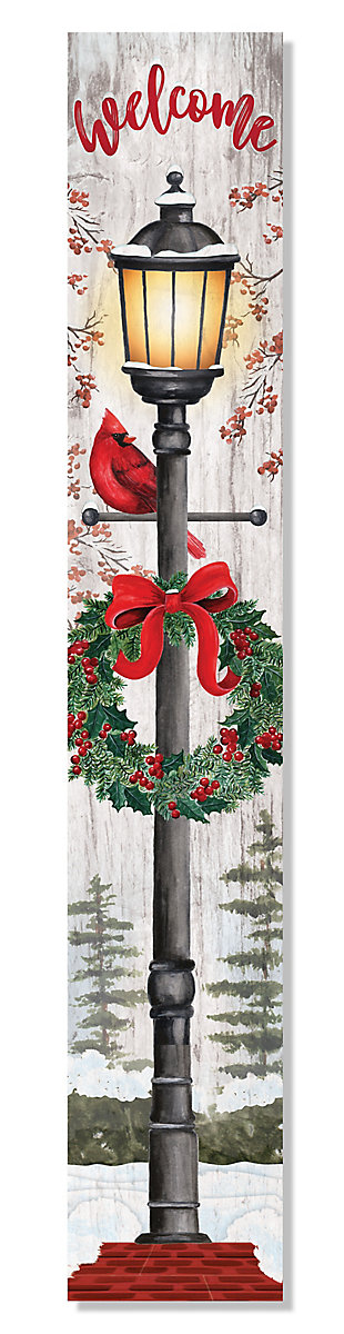 My Word! Welcome Porch Board with Christmas Lantern, , large