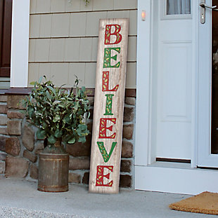 My Word! Porch Board with Believe, , rollover
