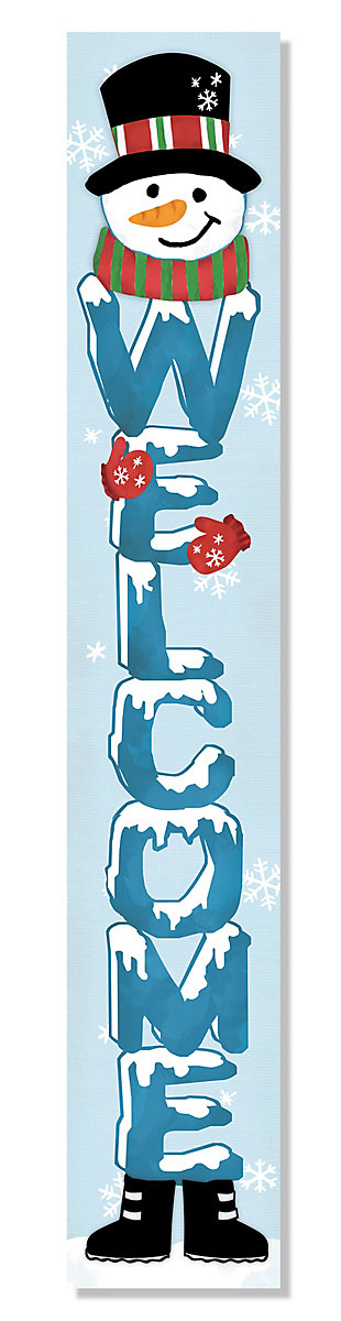 My Word! Welcome Porch Board with Snowman, , large