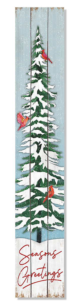 My Word! Seasons Greeting with Tree and Cardinals, , large