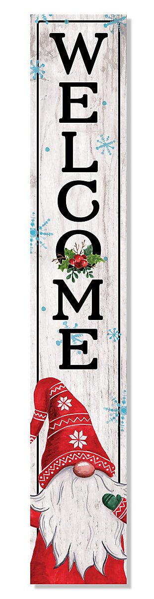 My Word! Welcome Porch Board with Gnome, , large