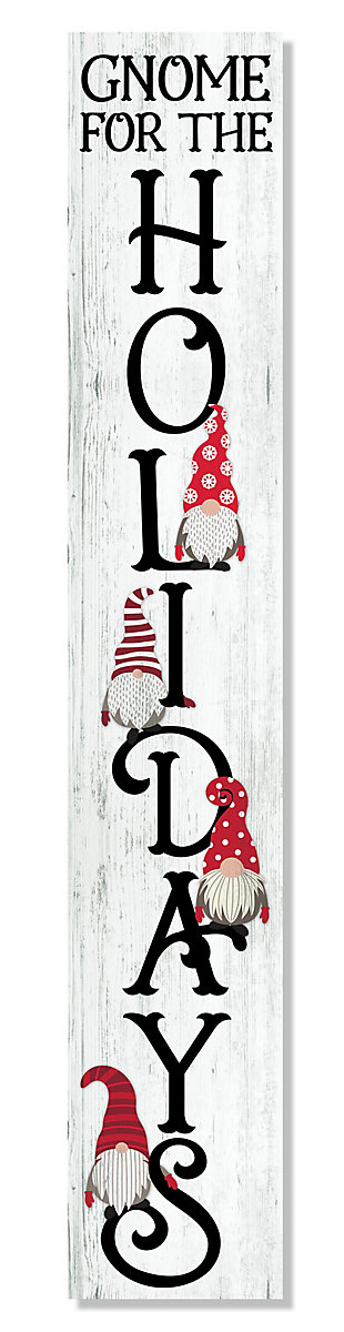 My Word! Porch Board with Gnome For The Holidays, , large