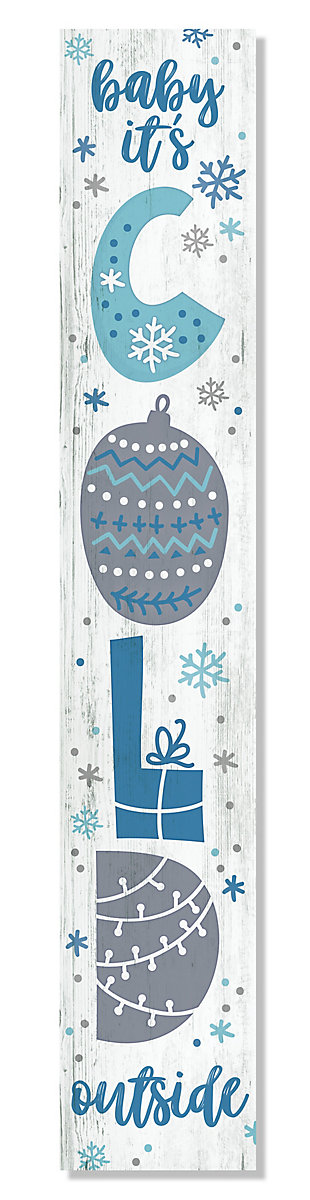 My Word! Porch Board with Baby It's Cold Outside, , large