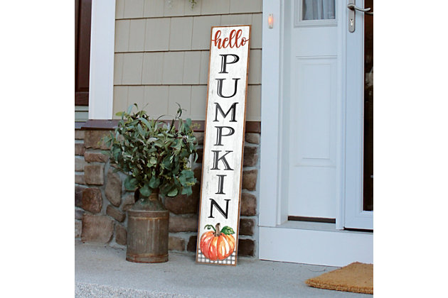 My Word! Porch Board with Hello Pumpkin, , large