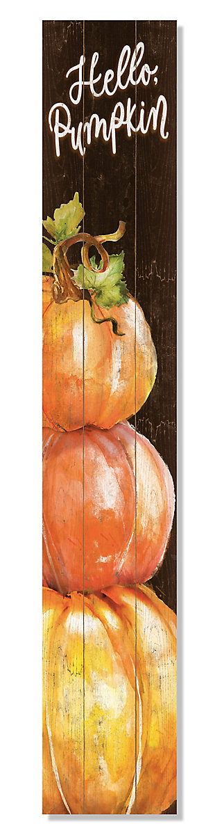 My Word! Porch Board with Hello Pumpkin Stack, , large