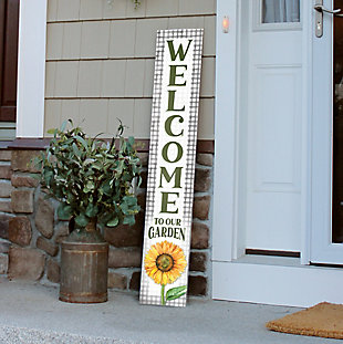 My Word! Welcome To Our Garden Sunflower Porch Board, , rollover