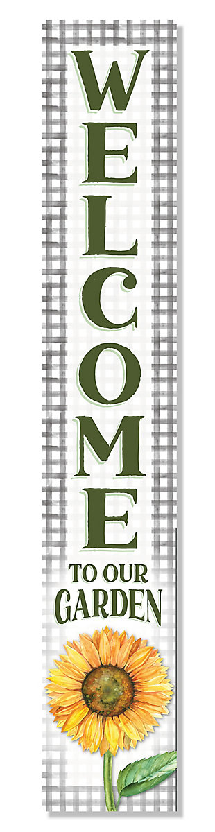 My Word! Welcome To Our Garden Sunflower Porch Board, , large