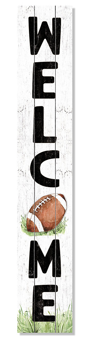 My Word! Welcome Porch Board with Football, , large