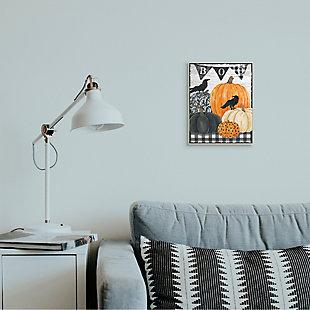 Stupell Industries  Whimsical Halloween Scene Farm Table Pumpkin Crows, 10 x 15, Wood Wall Art, , rollover