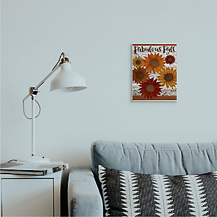 Stupell Industries  Fabulous Fall Phrase Rustic Harvest Sunflowers, 10 x 15, Wood Wall Art, , rollover