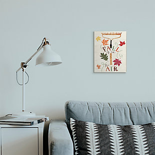 Stupell Industries  Fall Is In the Air Phrase Autumn Garden Rake, 10 x 15, Wood Wall Art, , rollover