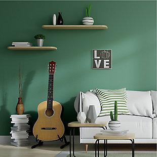 Stupell Industries  Bold Love Text Distressed Pumpkin Symbol, 12 x 12, Wood Wall Art, , rollover