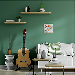 Stupell Industries  Fall Sweet Fall Phrase Distressed Orange Text, 12 x 12, Wood Wall Art, , rollover