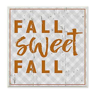 Stupell Industries  Fall Sweet Fall Phrase Distressed Orange Text, 12 x 12, Wood Wall Art, , large