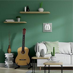 Stupell Industries  Happy Fall Pumpkin with Green Eucalyptus Detail , 12 x 12, Wood Wall Art, , rollover
