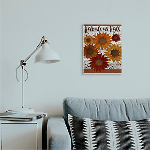 Stupell Industries  Fabulous Fall Phrase Rustic Harvest Sunflowers, 13 x 19, Wood Wall Art, , rollover