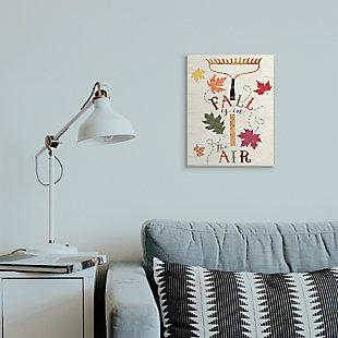 Stupell Industries  Fall Is In the Air Phrase Autumn Garden Rake, 13 x 19, Wood Wall Art, , rollover