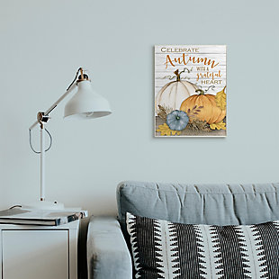 Stupell Industries  Celebrate Autumn Phrase Rustic Farm Harvest, 13 x 19, Wood Wall Art, , rollover