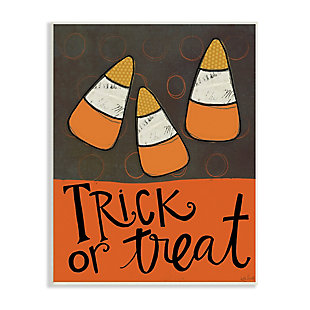 Stupell Industries  Trick or Treat Halloween Greeting Patterned Candy Corn, 13 x 19, Wood Wall Art, , large