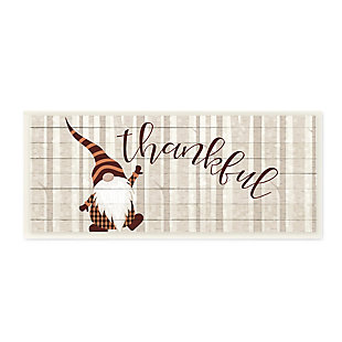 Stupell Industries  Thankful Harvest Forest Gnome Elf-Like Creature, 7 x 17, Wood Wall Art, , large