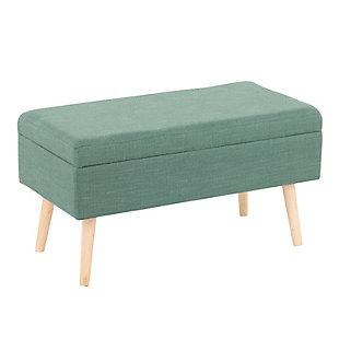 LumiSource Storage Bench, Natural/Green, large