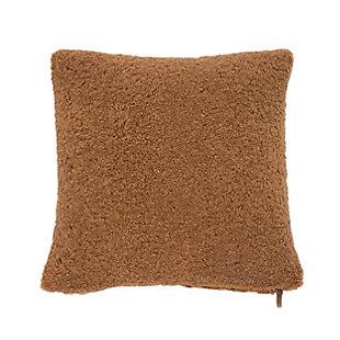 Evergrace Teddy Sherpalux Sherpa Pillow, Glazed Ginger, large