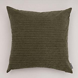 Evergrace Opulence Chenille Stripes Throw Pillow, Winter Moss Green, large