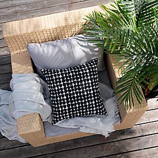 freshmint Lenore Pebble Outdoor Pillow, Black Beauty, rollover