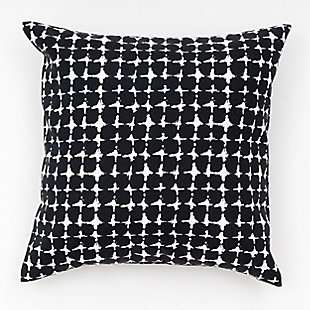 freshmint Lenore Pebble Outdoor Pillow, Black Beauty, large