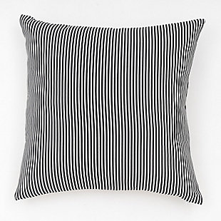 freshmint Biscay Stripes Outdoor Pillow, Black Beauty, large