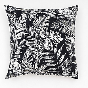 freshmint Tamani Palm Outdoor Pillow, Black Beauty, large