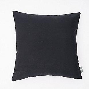 freshmint Tristin Solids Outdoor Pillow, Black Beauty, large