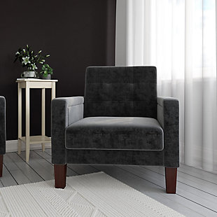 Atwater Living Peter Chair, Black, rollover