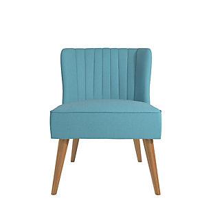 Novogratz Brittany Accent Chair, Light Blue, large