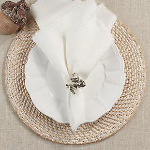 Saro Lifestyle Napkin Rings With Acorn Design (Set of 4), , rollover