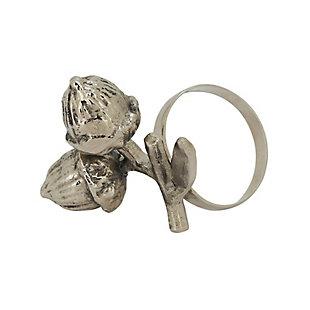 Saro Lifestyle Napkin Rings With Acorn Design (Set of 4), , large