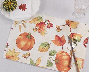 Saro Lifestyle Fall Pumpkins Table Mats (Set of 4), , rollover