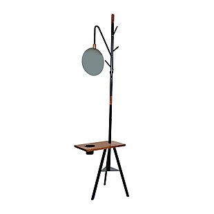 The Urban Port Ferrier Coat Rack with Mirror and Desk, , rollover