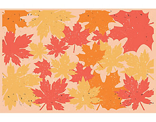 A&A Story Fall Foliage Floor Mat, 3.2'x4.8', Yellow/Orange/Red, large