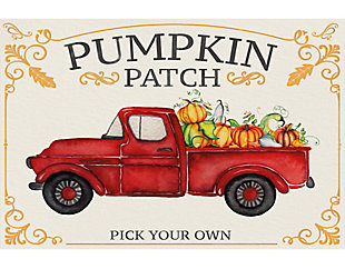 A&A Story Pick Your Own Pumpkins Floor Mat, 3.2'x4.8', Ivory/Red, large