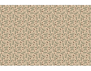 A&A Story Leaves and Acorns Floor Mat, 3.2'x4.8', Beige/Green, large