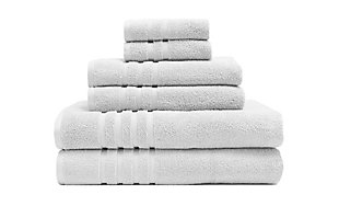 Elite Home Products Bamboo Origin Towel Set, White, large