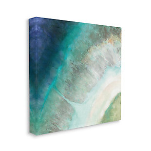 Stupell Industries Abstract Blue Green Organic Curve Painting, 17 x 17, Canvas Wall Art, Blue, large
