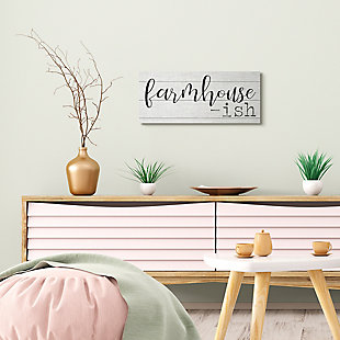 Stupell Industries Farmhouse Inspired Welcome Home Sign Greeting , 10 x 24, Canvas Wall Art, Off White, rollover