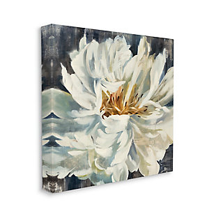 Stupell Industries Organic Blooming White Petals with Rustic Charm, 17 x 17, Canvas Wall Art, Off White, large
