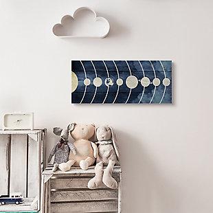 Stupell Industries Diagram of Solar System Rustic Earth Sun Mars, 10 x 24, Canvas Wall Art, Blue, rollover