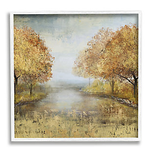 Stupell Industries Golden Autumn Tree Forest Landscape Contemporary Scene, 12 x 12, Framed Wall Art, Orange, large