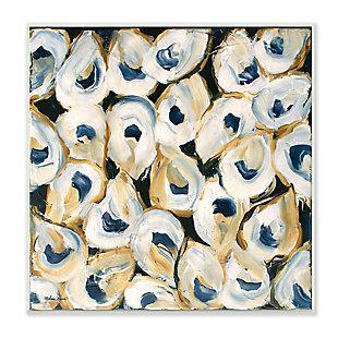 Stupell Industries Nautical Oyster Shells Coastal Ocean Sea Life , 12 x 12, Wood Wall Art, , large