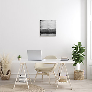 Stupell Industries Monochromatic Grey Rustic Abstraction Layered Shades, 17 x 17, Canvas Wall Art, Gray, rollover